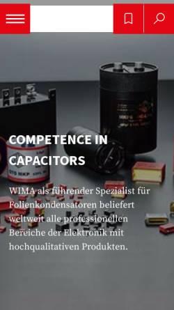 Vorschau der mobilen Webseite www.wima.de, Wima GmbH