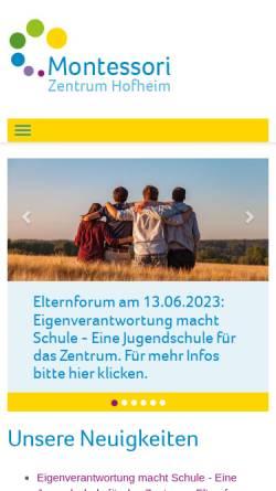 Vorschau der mobilen Webseite www.montessori-hofheim.de, Montessori-Zentrum Hofheim