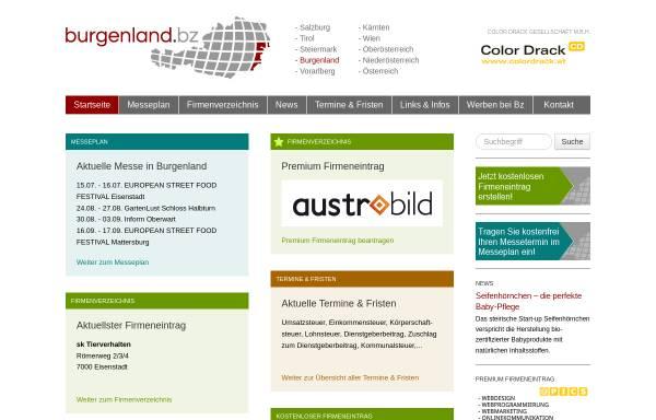 Vorschau von www.burgenland.bz, Burgenland.Bz - Shopping und Wirtschaftsplattform für das Burgenland