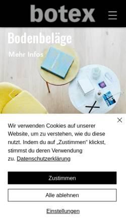 Vorschau der mobilen Webseite www.botex.ch, Botex AG, Bern