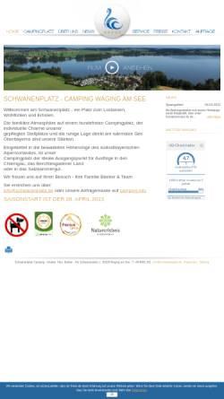 Vorschau der mobilen Webseite www.schwanenplatz.de, Camping Schwanenplatz KG - Beeker