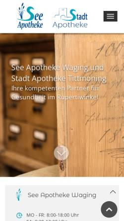 Vorschau der mobilen Webseite www.see-apotheke-waging.de, See Apotheke