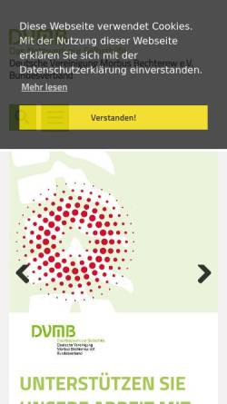 Vorschau der mobilen Webseite www.bechterew.de, DVMB-Bundesverband