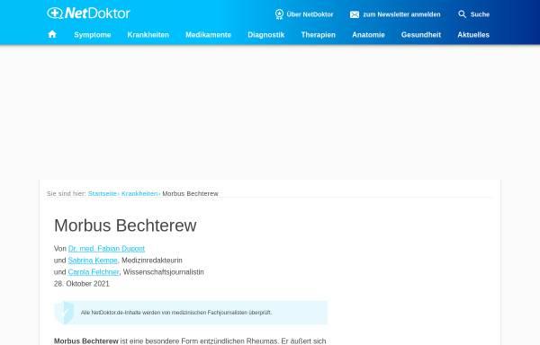 Vorschau von www.netdoktor.de, Netdoktor: Morbus Bechterew