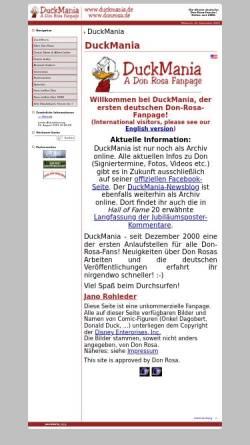 Vorschau der mobilen Webseite www.duckmania.de, DuckMania