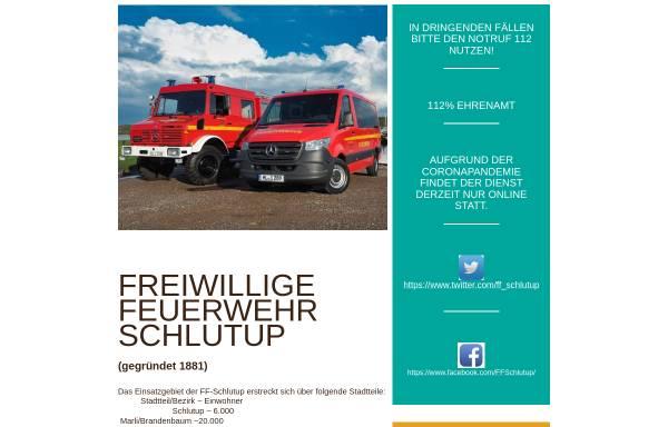Vorschau von www.feuerwehr-schlutup.de, Freiwillige Feuerwehr Lübeck-Schlutup