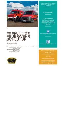 Vorschau der mobilen Webseite www.feuerwehr-schlutup.de, Freiwillige Feuerwehr Lübeck-Schlutup