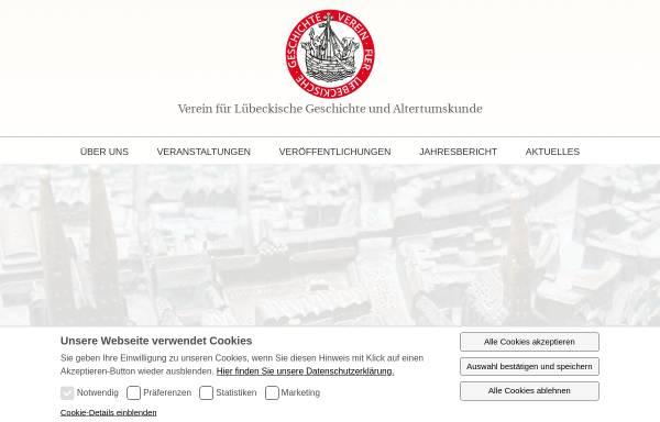 Vorschau von www.vlga.de, Verein für Lübeckische Geschichte und Altertumskunde