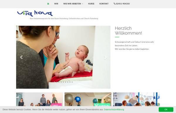 Vorschau von hebammen-vita-nova.de, Hebammenpraxis Vita Nova
