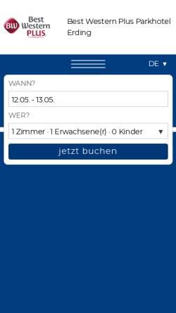 Vorschau der mobilen Webseite www.parkhotel-erding.de, Best Western Parkhotel