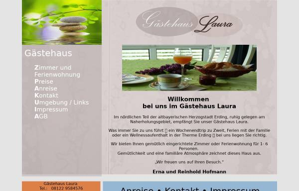 Vorschau von www.gaestehaus-laura.com, Gästehaus Laura