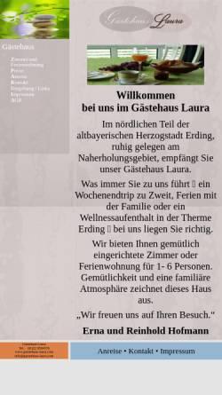 Vorschau der mobilen Webseite www.gaestehaus-laura.com, Gästehaus Laura