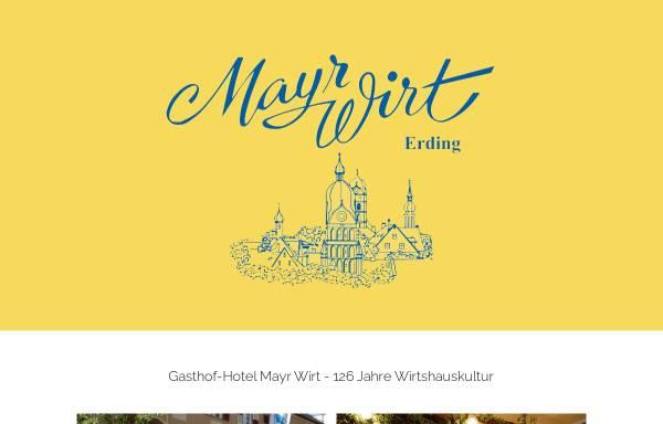 Vorschau von www.mayrwirt-erding.de, Gasthof - Hotel Mayr-Wirt