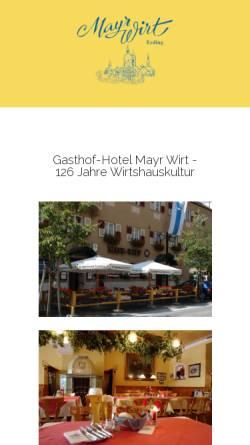 Vorschau der mobilen Webseite www.mayrwirt-erding.de, Gasthof - Hotel Mayr-Wirt