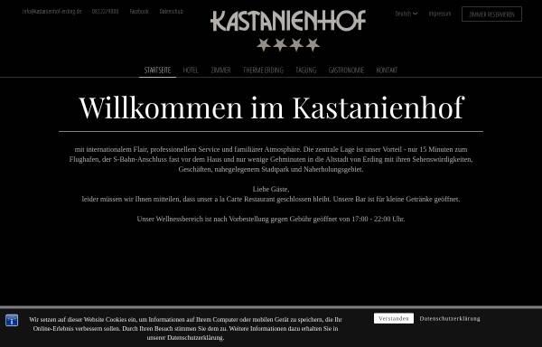 Vorschau von www.kastanienhof-erding.de, Hotel Kastanienhof