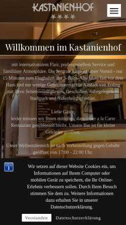 Vorschau der mobilen Webseite www.kastanienhof-erding.de, Hotel Kastanienhof