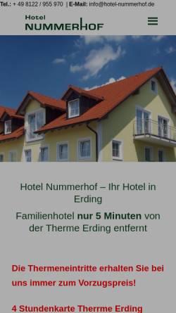 Vorschau der mobilen Webseite hotel-nummerhof.de, Hotel Nummerhof