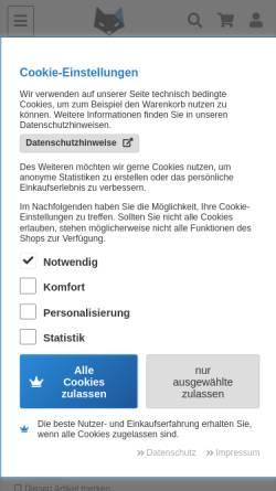 Vorschau der mobilen Webseite panzerfux.de, Panzerfux Modellbau, Daniel Höhn