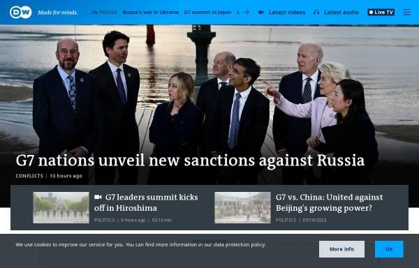 Vorschau von www.dw-world.de, Deutsche Welle TV