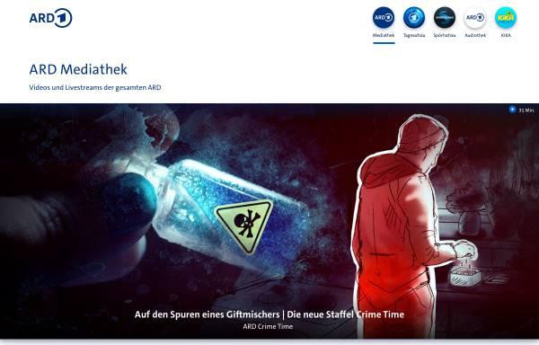 Vorschau von www.ard.de, Erstes Deutsches Fernsehen