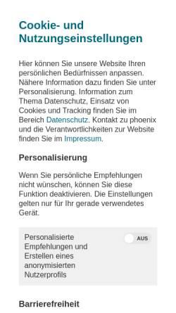Vorschau der mobilen Webseite www.phoenix.de, Phoenix