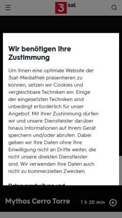 Vorschau der mobilen Webseite www.3sat.de, 3sat