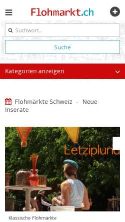 Vorschau der mobilen Webseite www.flohmarkt.ch, Flohmarkt.ch