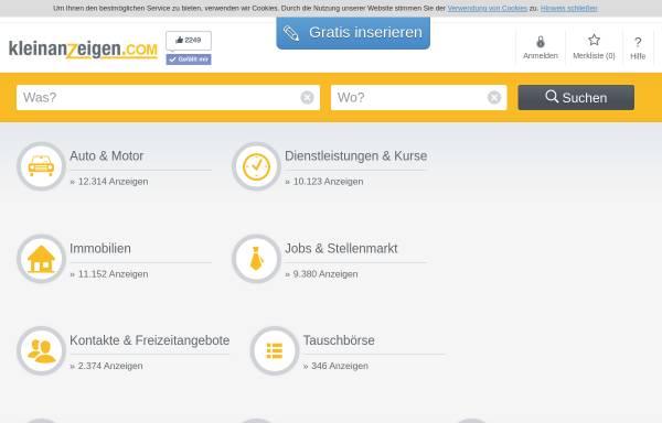 Vorschau von www.kleinanzeigen.ch, Kleinanzeigen.ch