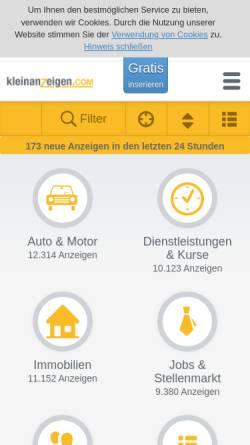 Vorschau der mobilen Webseite www.kleinanzeigen.ch, Kleinanzeigen.ch