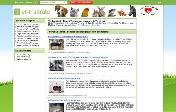 Vorschau von www.tier-inserate.ch, Tier-Inserate.ch
