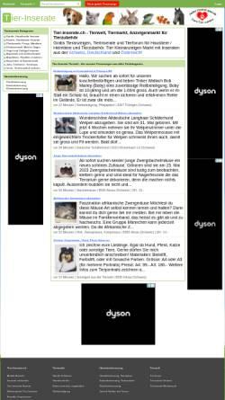 Vorschau der mobilen Webseite www.tier-inserate.ch, Tier-Inserate.ch
