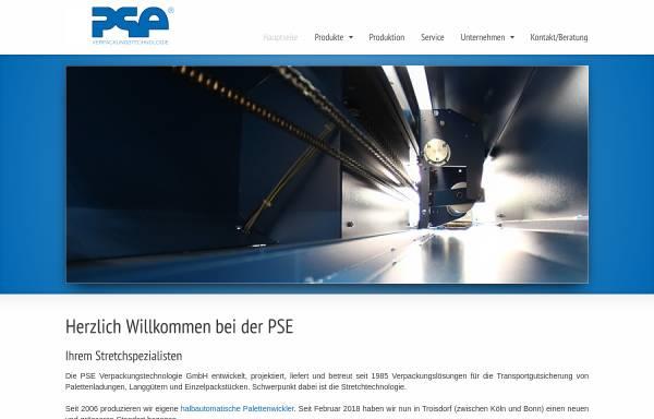 Vorschau von www.pse-verpackung.de, PSE Verpackungstechnologie GmbH
