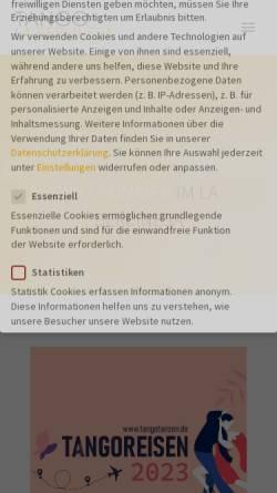 Vorschau der mobilen Webseite www.tangotanzen.de, Ines & Ulrich