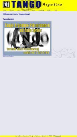 Vorschau der mobilen Webseite www.tangofreiburg.de, It takes two to tango