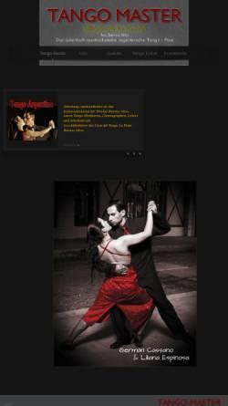 Vorschau der mobilen Webseite www.tango-master.com, Liliana Espinosa & Germán Cassano
