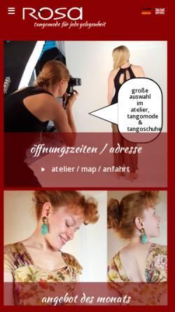 Vorschau der mobilen Webseite www.tangomode.de, Rosa Tangomode