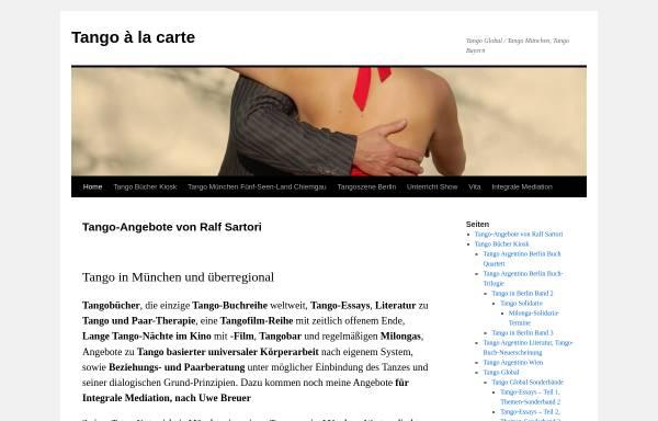 Vorschau von www.tango-a-la-carte.de, Tango à la carte