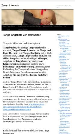 Vorschau der mobilen Webseite www.tango-a-la-carte.de, Tango à la carte