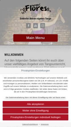 Vorschau der mobilen Webseite www.tango-flores.de, Tango Flores