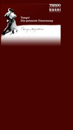 Vorschau der mobilen Webseite www.tangobasel.ch, Tangoschule Basel