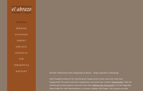 Vorschau von www.elabrazo-tangohamburg.de, Tangostudio El Abrazo