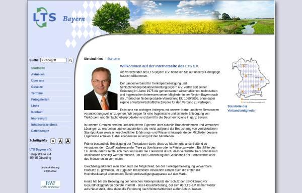Vorschau von www.ltsb.de, Landesverband Tierkörperbeseitigung und Schlachtnebenproduktverwertung - Bayern e. V.