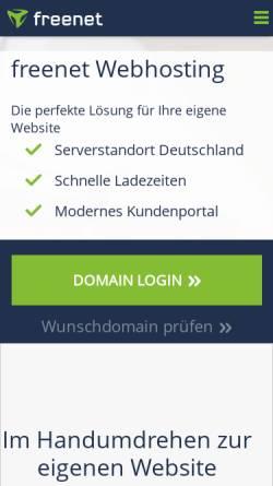 Vorschau der mobilen Webseite freenet-homepage.de, Meininger