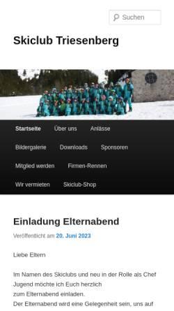 Vorschau der mobilen Webseite www.sctriesenberg.li, Ski-Club Triesenberg