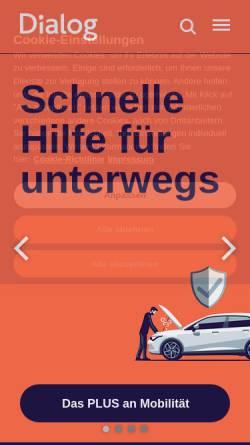 Vorschau der mobilen Webseite www.dialog-leben.de, Dialog Lebensversicherungs-AG