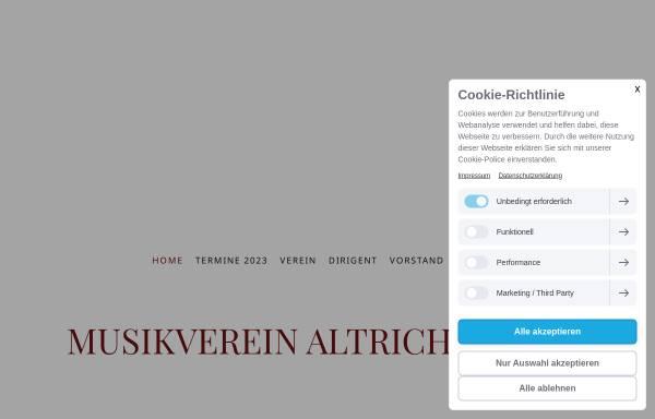 Vorschau von www.musikverein-altrich.de, Musikverein Altrich