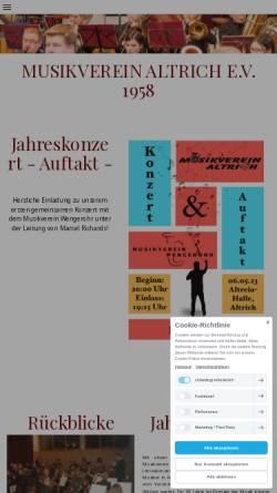 Vorschau der mobilen Webseite www.musikverein-altrich.de, Musikverein Altrich