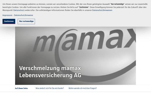 Vorschau von www.mamax.com, mamax Lebensversicherung AG