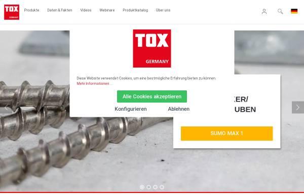 Vorschau von www.tox.de, Tox-Dübel-Technik GmbH