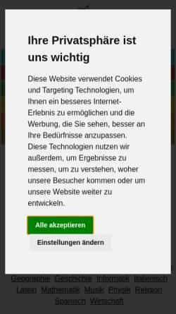 Vorschau der mobilen Webseite www.lernen-mit-spass.ch, Lernen mit Spass